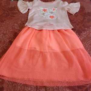 Cat & Jack top and skirt